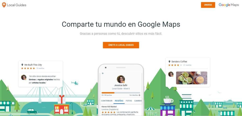 El programa Local Guides de Google es el propulsor con el que la empresa del buscador quiere motivar tu colaboración para valorar y reseñar los lugares y establecimientos de Google Maps.